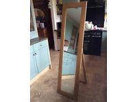 Freestanding Oak Mirror