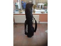 Set of Donnay Evolution oversized carbon graphite clubs with golf bag