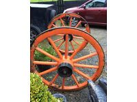 Antique horse and cart wheels