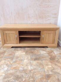 Bevel Natural Solid Oak Large TV Unit