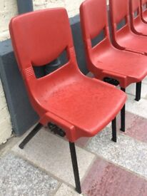 Six stacking chairs