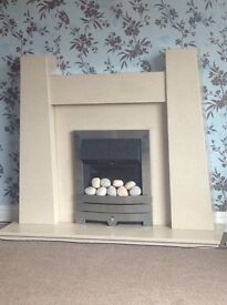 Marble Fireplace including Electric Fire