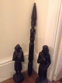 Ethnic wooden statues from Borneo