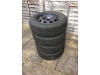 4 x Goodride 195/65R 15 Snowmaster tyres on steel rims