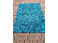 Colour teal rug