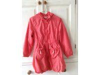 Girls lightweight rain coat age 9-10