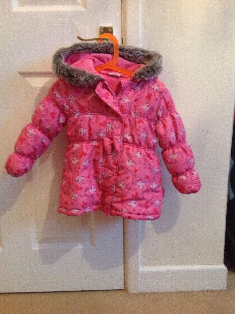 Girls Peppa Coat Age 2-3