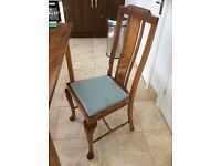 4xAntique dining chairs and matching modern table