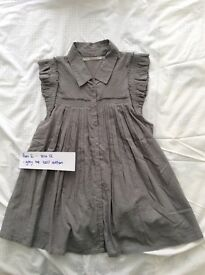 "Maternity grey ""flared""/pleated cotton blouse, size 12, only £5"