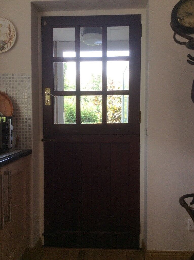 Mahogany Exterior Interior Stable Door In Corsham Wiltshire
