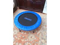 Carl Lewis exercise trampoline
