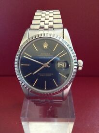 GENUINE ROLEX 16030 GENTS OYSTER PERPETUAL DATE JUST QUICK SET DATE STAINLESS STEEL 1982 JUBILEE