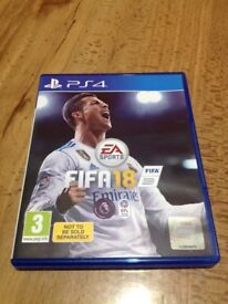 FIFA 18 ps4 game in perfect working condition