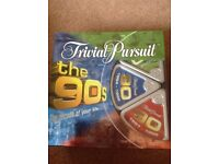 Trivial Pursuit 'The 90'S' as new. A quality version.
