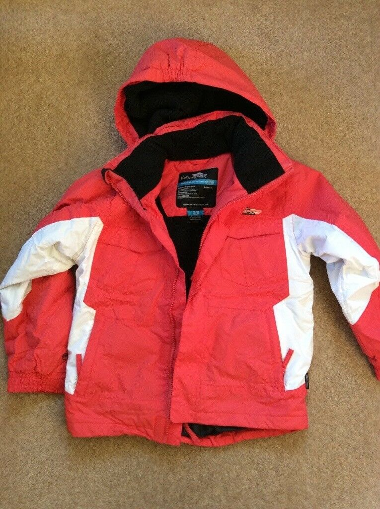 Boys or Girls Trespass ski jacket age 7 8 orange  0dd28c761