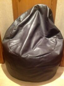 Brown Faux Leather Beanbag (Next)
