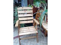 Wooden table and 4 chairs for conservatory
