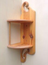 small pine corner shelf