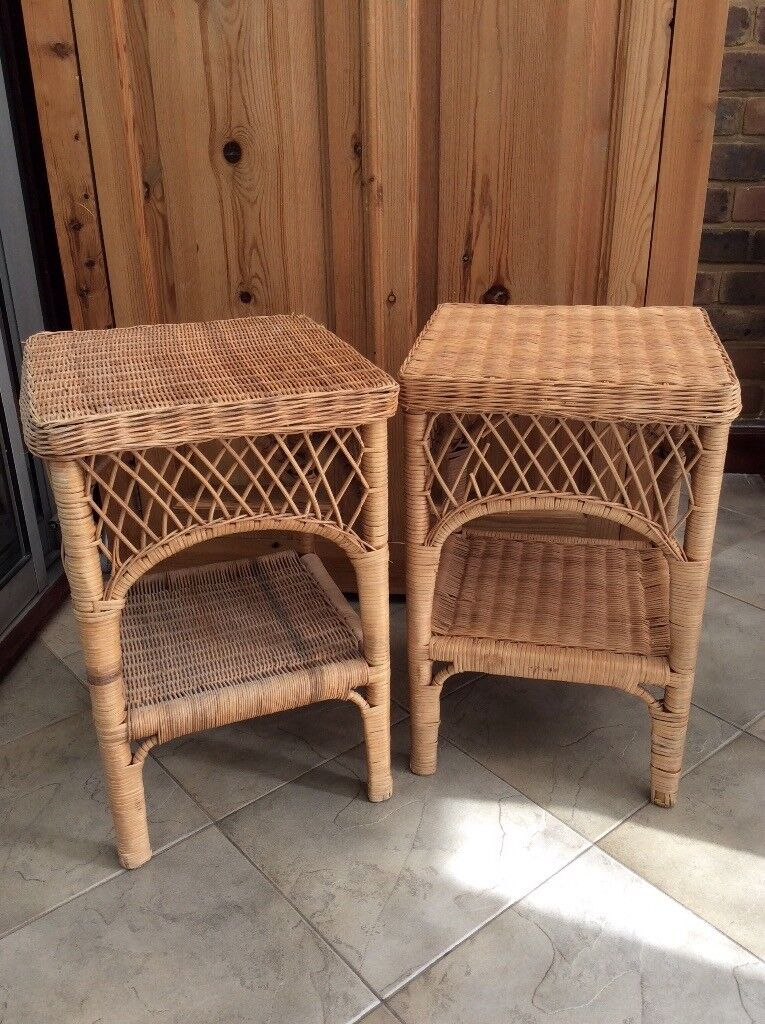 Pair of wicker lamp tables in enfield london gumtree pair of wicker lamp tables aloadofball Choice Image