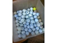 80 golf balls in used but good condition