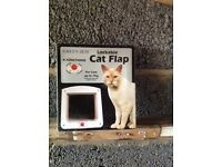 Cat flap brand new , boxed