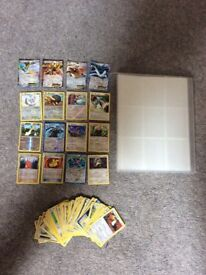 Pokemon cards and binder