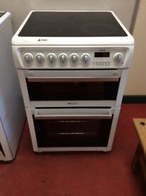 60cm double oven Hotpoint cooker three month guarantee delivery available