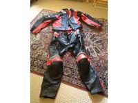 Ladies BKS leather 2 piece suit