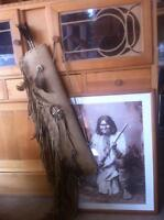 Framed Print of Geronimo and Navajo quiver with arrows