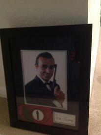 Sean Connery Signed framed picture