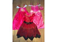 Princess handbag and dress age 7-8 year x2 and 9-10 year X1 items all in excellent condition.