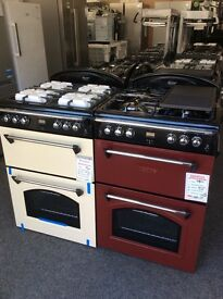 Leisure gourmet 60cm wide gas cooker with double oven new/graded 12 math gtee rrp £549