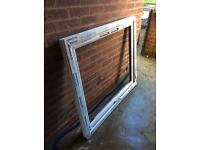 Window frame and glass / mow and trim mower