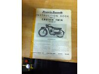Francis Barnett 250cc Instruction Book.