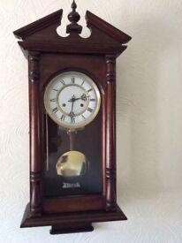 Beautiful wooden windup clock