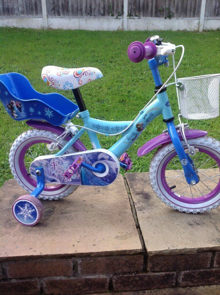 Disney Frozen 12inch bike with removeable stabilisers