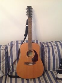 Simon and Patrick 12 string acoustic guitar