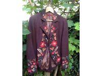 Jacket retro / vintage gipsy hippie UTTAM LONDON WOOL EMBROIDERED JACKET