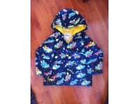 Boys Hatley 'space cars' raincoat - Age 4. Great condition