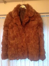 Very Good Quality Ladies Genuine Rabbit-Fur Coat