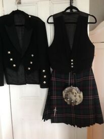 Kilt jacket waistcoat