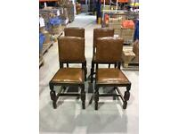 REDUCED Four vintage / antique dark wooden dining chairs (100% proceeds go to St Peter's Hospice)