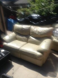 Leather 3 +2 recliner £40 need gone today