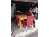 Beautiful John Lewis Beech Dining Table and 6 chairs