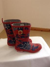 Joules wellies size 4 with original bag