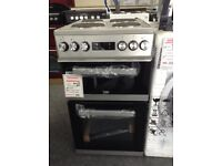 Beko 50cm silver electric cooker £220 new/graded 12 month Gtee