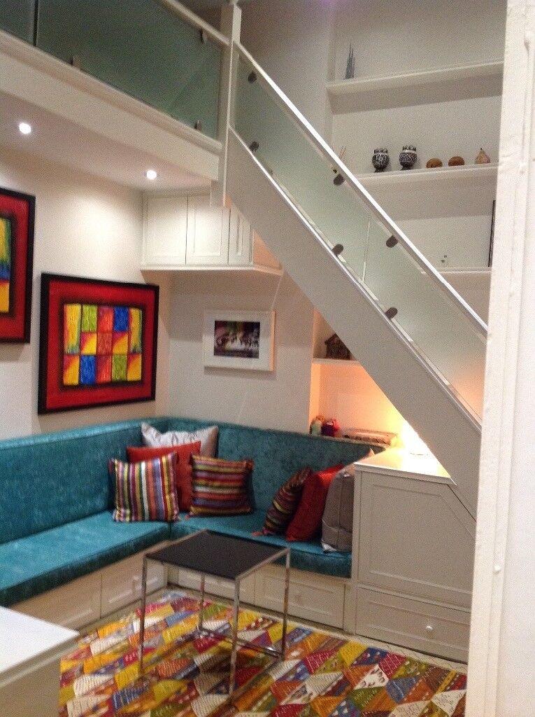 Bright studio with balcony and mezzanine sleeping area