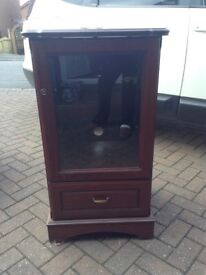 Wooden hifi stereo display unit cabinet