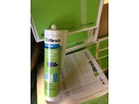 Clear silicone sealant adhesive fixing weatherproofing.BARGAIN!!!!
