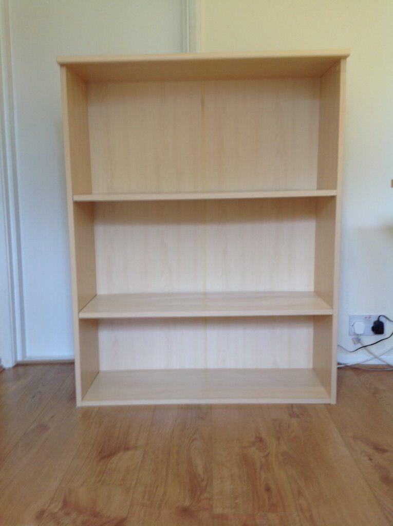 OPEN BOOKCASE - 3 shelves - Light Beech in colour